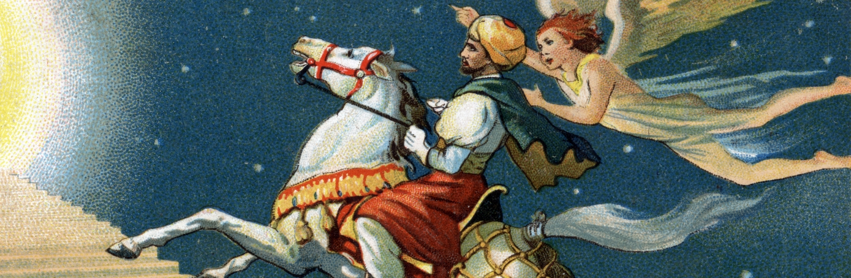 Illustration of Muhammad and Archangel Gabriel. (Credit: Stefano Bianchetti/Corbis via Getty Images)