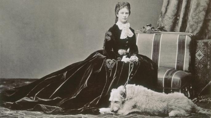 Empress Elisabeth with her dog. (Credit: Alinari Archives/CORBIS/Corbis via Getty Images)