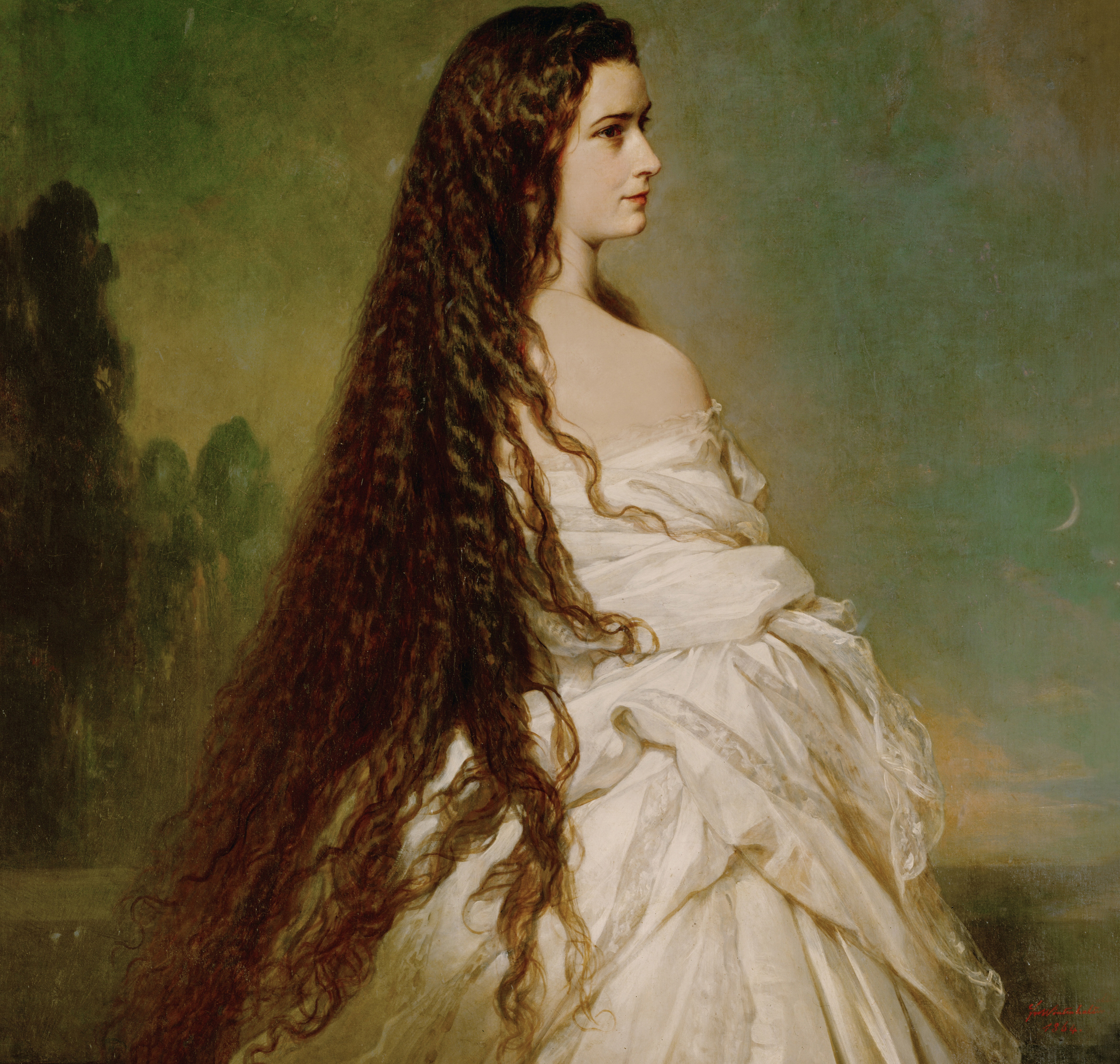 Empress Elisabeth of Austria, known for her long hair. (Credit: Imagno/Getty Images)
