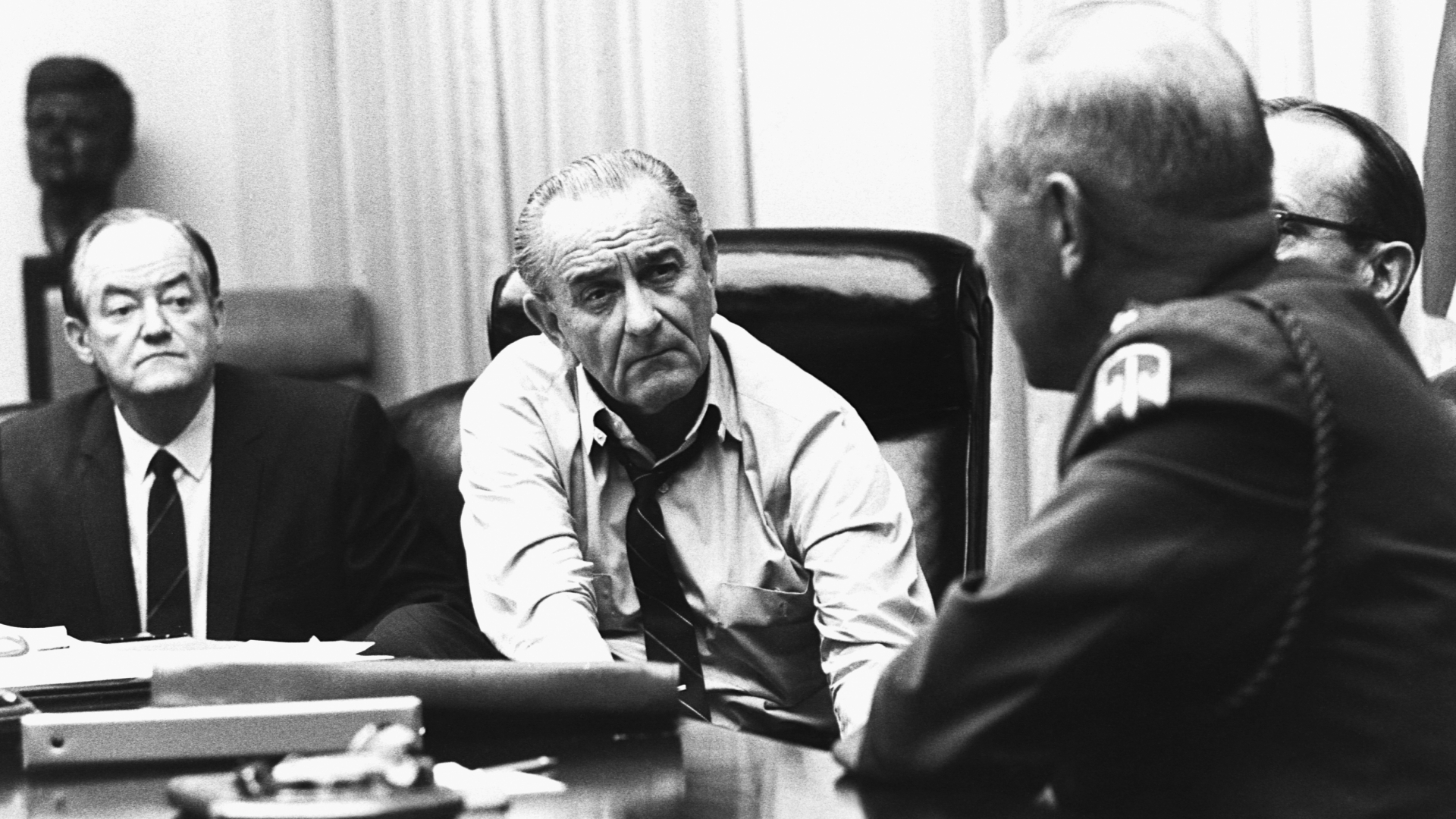 justifying president lyndon b johnson in sending troops into vietnam F ifty years ago today, president lyndon b johnson appeared on prime-time television to tell the nation that he was sending 50,000 additional american troops to vietnam.