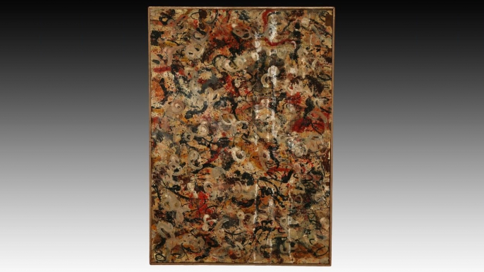 A Jackson Pollock painting found in an Arizona garage. (Credit: J. Levine Auction)