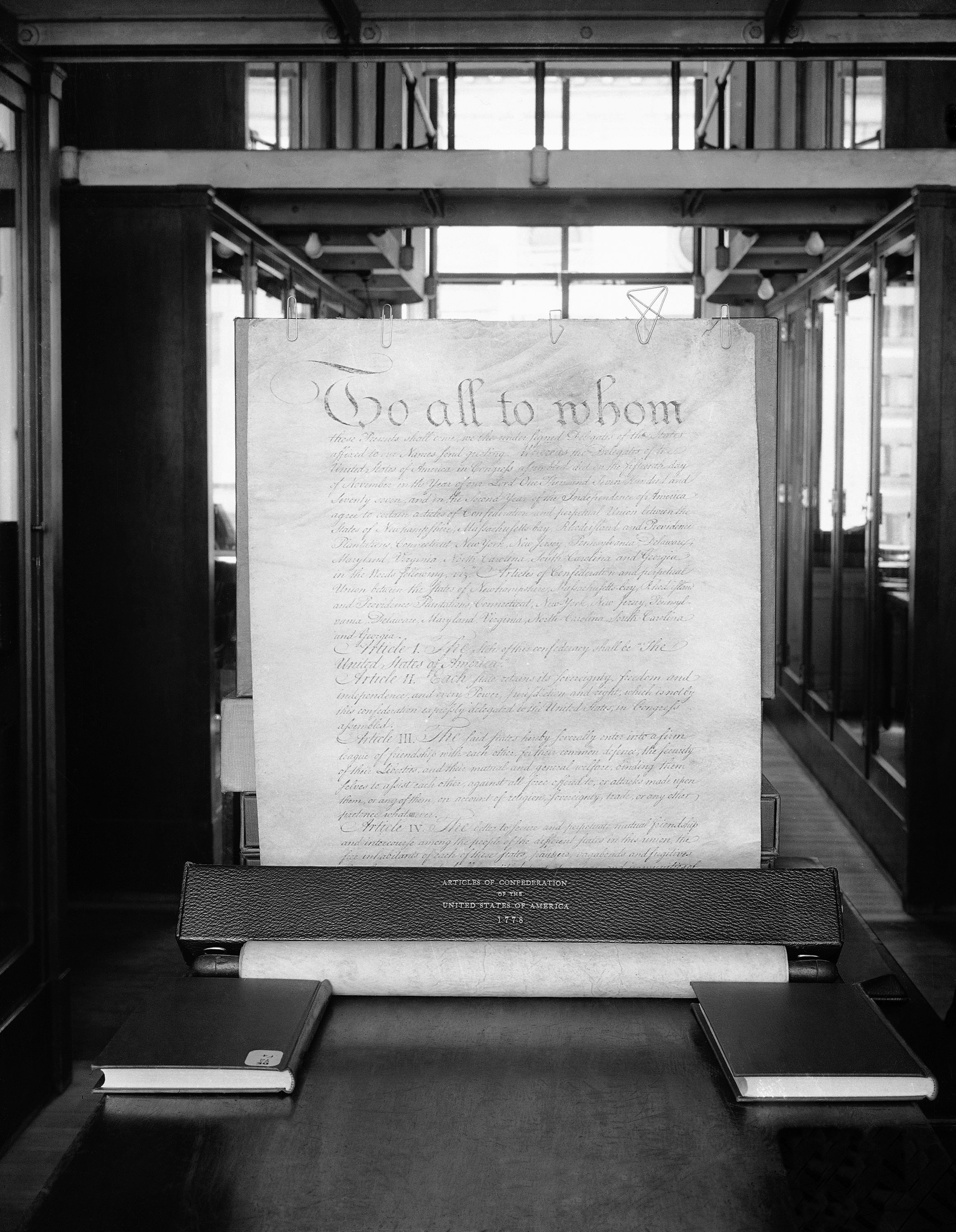 The Articles of Confederation. (Credit: AP Photo)