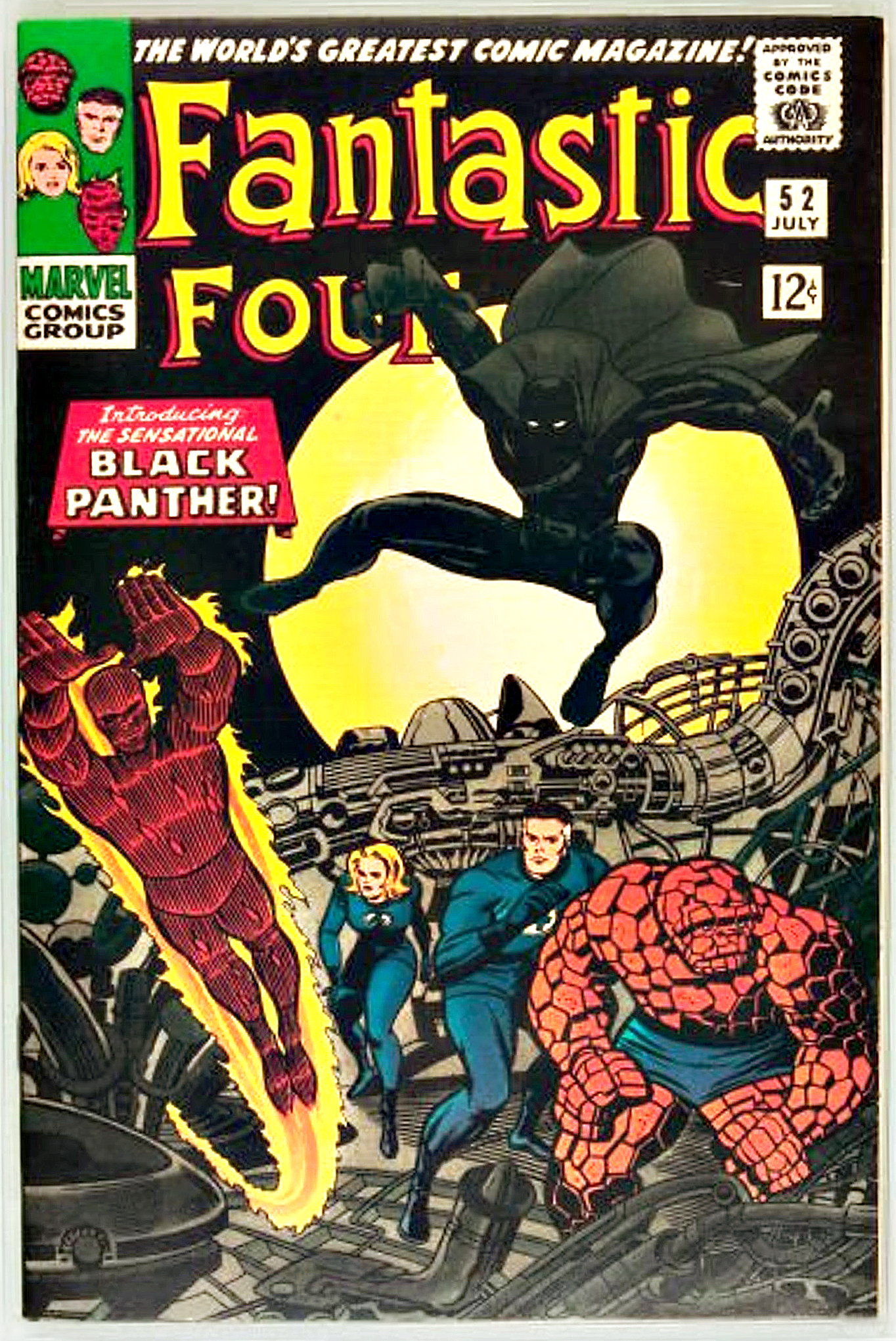 Fantastic Four #52, where Black Panther was first featured. (Image courtesy of LiveAuctioneers.com and Heritage Auctions)
