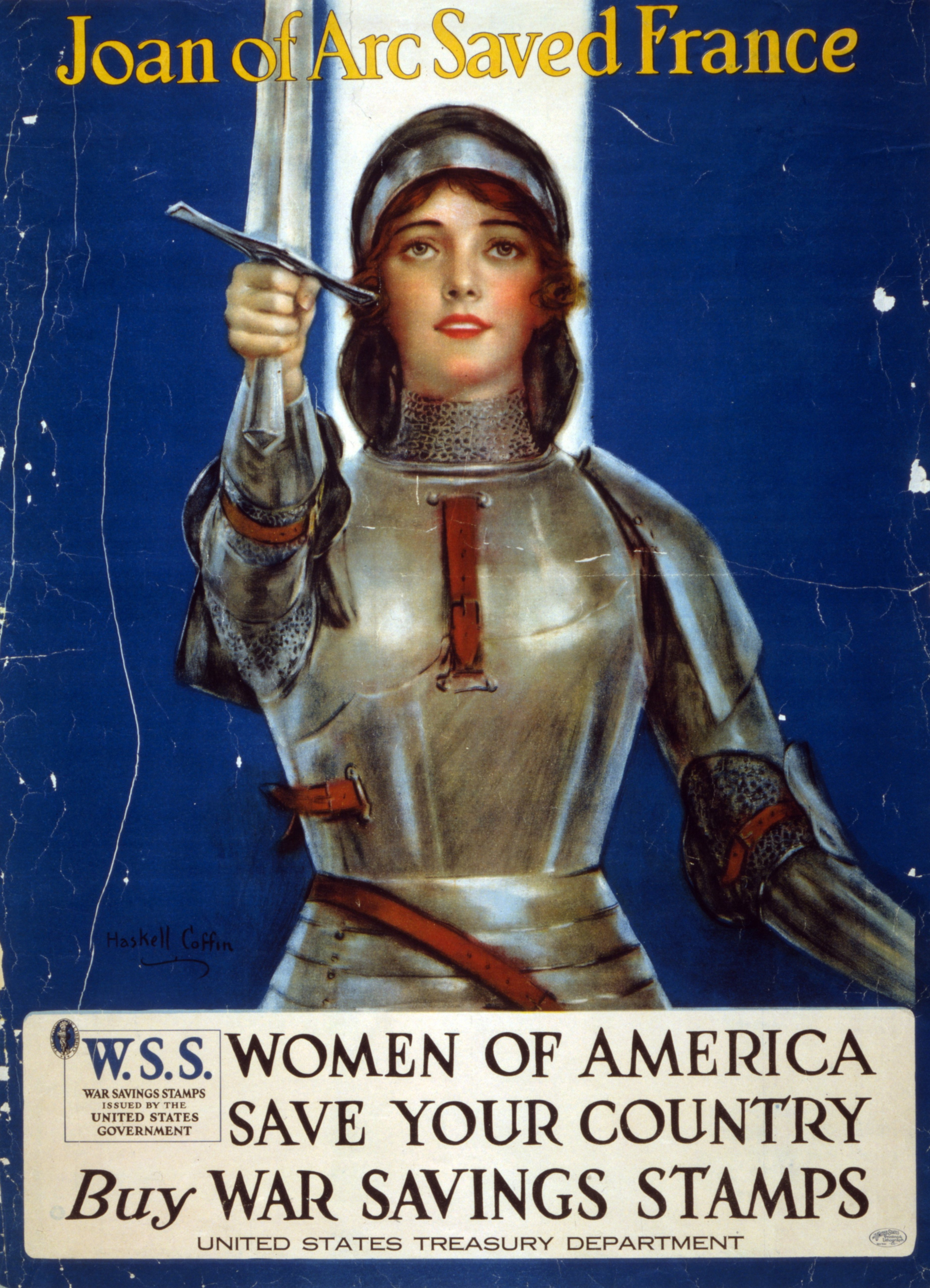 A 1918 World War I poster. (Credit: Universal History Archive/UIG via Getty images)