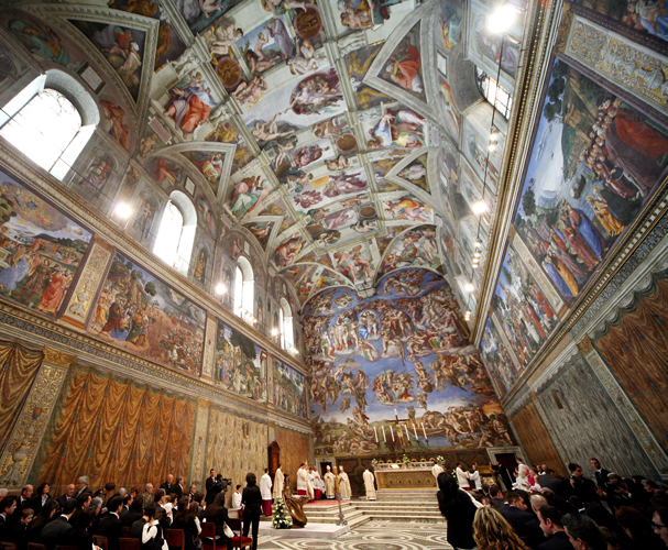 an analysis of michelangelos sistine chapel Michelangelo, pope julius ii and the sistine chapel  work of art in human history as michelangelo's frescoes on the sistine chapel in the vatican in rome were.