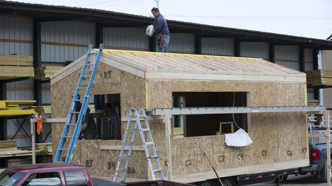 rochester tiny house construction Tim and Shannons Tiny House