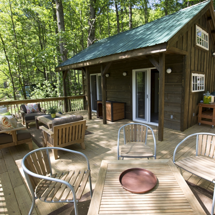 tiny house with great deck