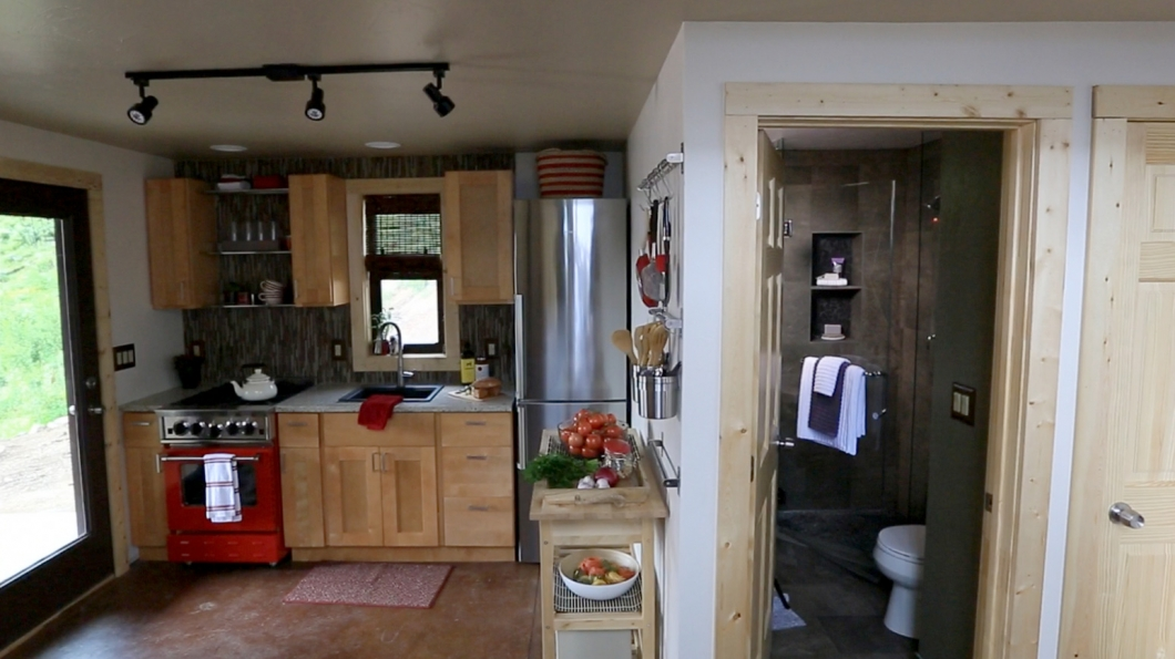 colorado tiny house kitchen