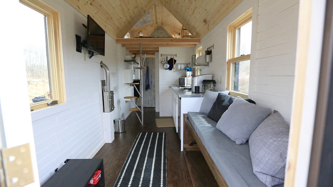 new england tiny house interior