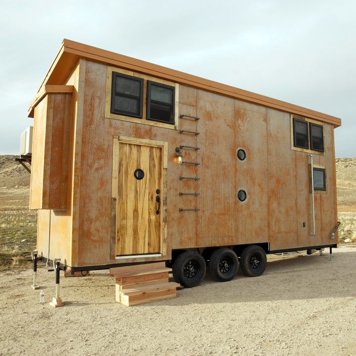 The edge and industrial aesthetic of steampunk makes Michele's tiny house one-in-a-million.