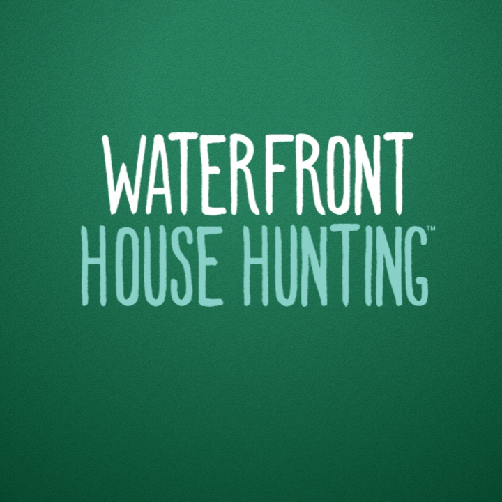 waterfront house hunting logo