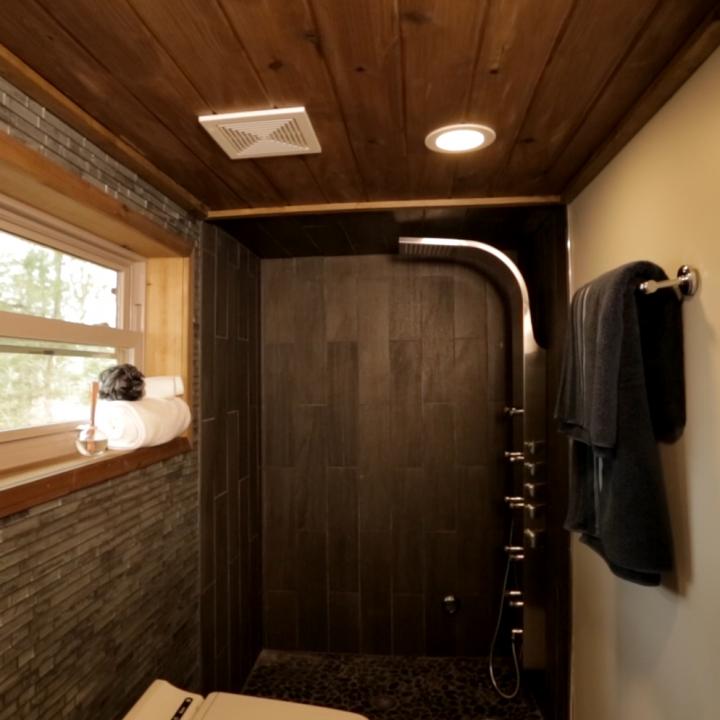 Tiny House Bathroom Prevnext View To Bath Tiny House Company