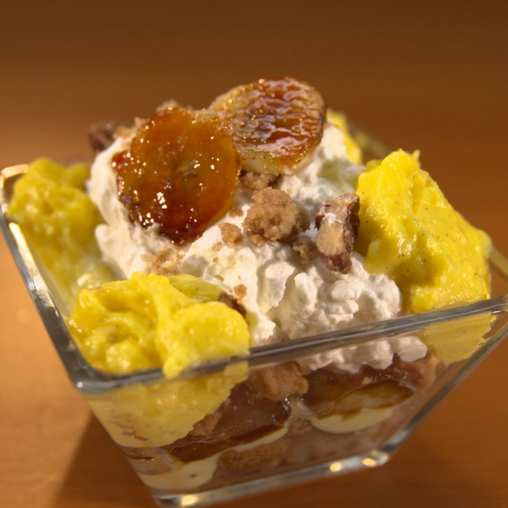 Bananas Foster Trifle - Man vs. Child: Chef Showdown | FYI