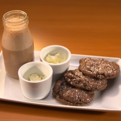 Double Chocolate Cherry Cookies with Mexican Hot Chocolate