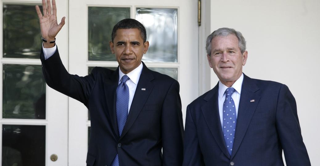 senator john mccain, george w bush, barack obama, 2008, presidential election