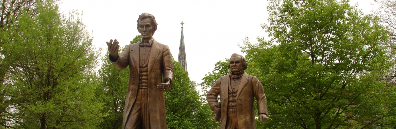 lincoln douglas outline Expansion and slavery  lincoln-douglas debates of 1858 during illinois senatorial campaign:  a people and a nation chapter 3 outline the civil war.