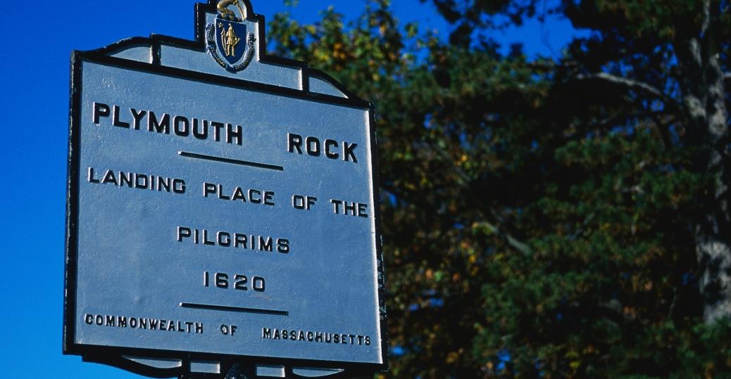 plymouth rock, massachusetts, 1620, pilgrams, first thanksgiving