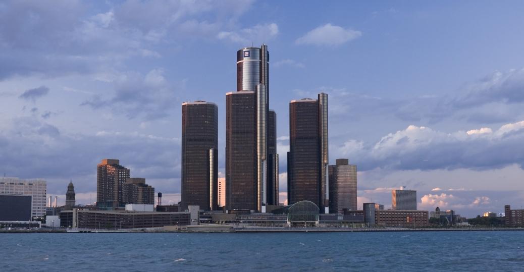 detroit, michigan, largest city, automotive center, motor city, renaissance center, general motors