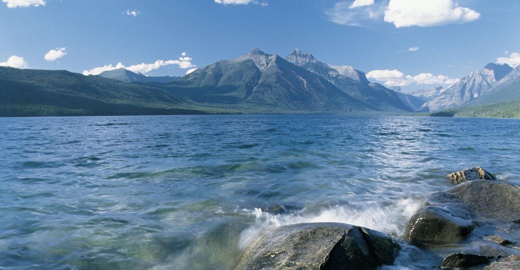 glacier national park, montana, waterton lakes national park, peace park, lakes