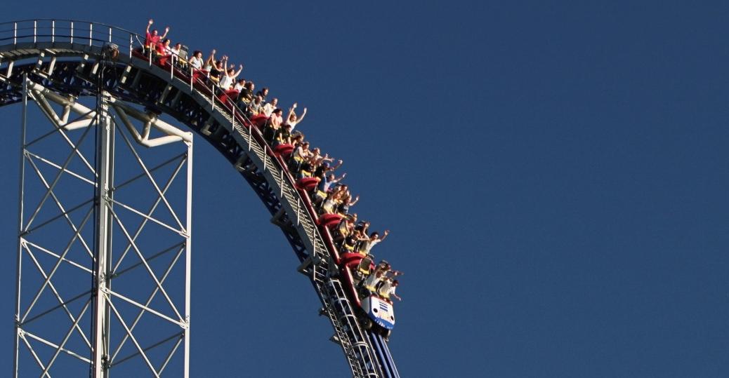 cedar point, roller coaster, the mean streak, ohio, amusement park
