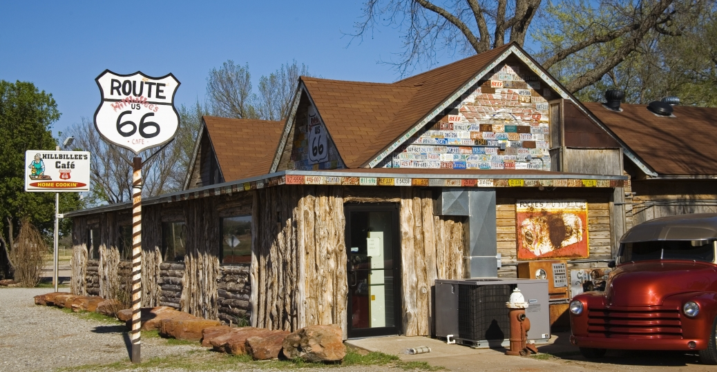 route 66, cafe, hillbee's, hillbee's cafe, oklahoma