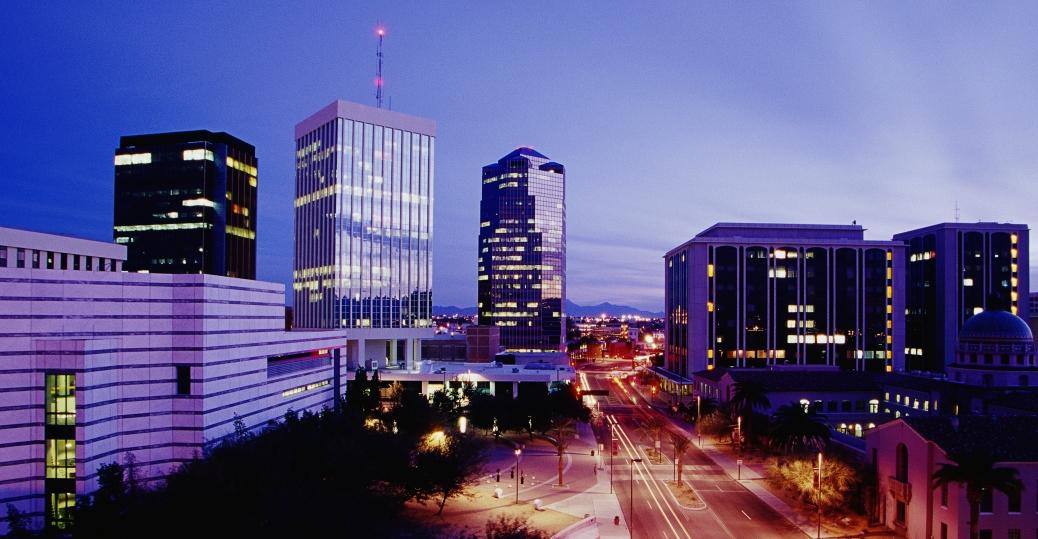 tucson, pima county, arizona, tucson skyline