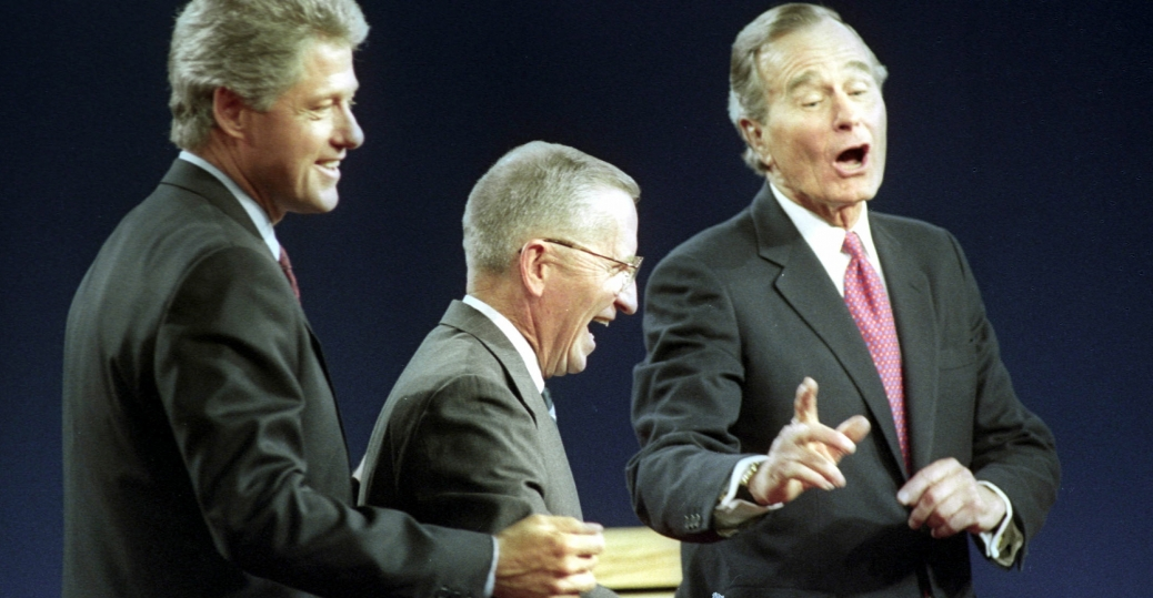 1992, george h w bush, ross perot, bill clinton, presidential election