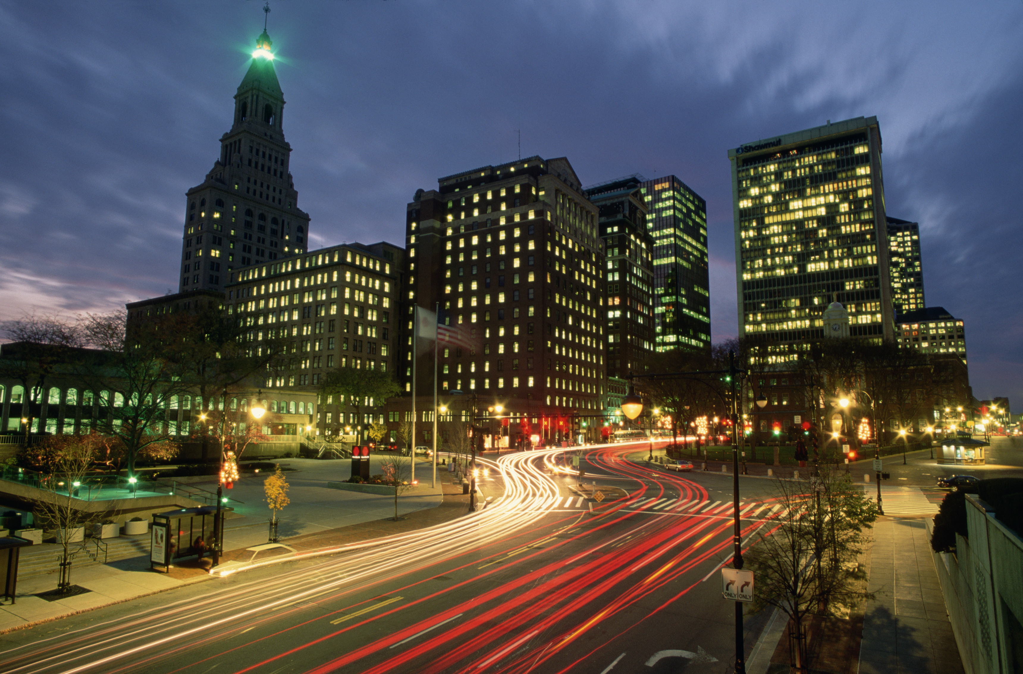 downtown-hartford-at-night - Connecticut Pictures ...