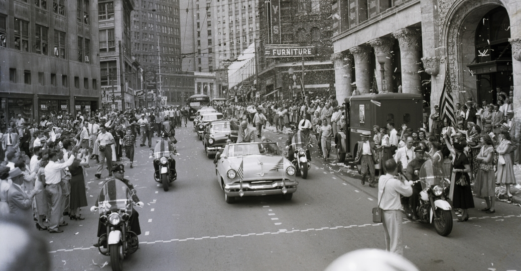 eisenhower, dwight d eisenhower, welcome home parade, homecoming