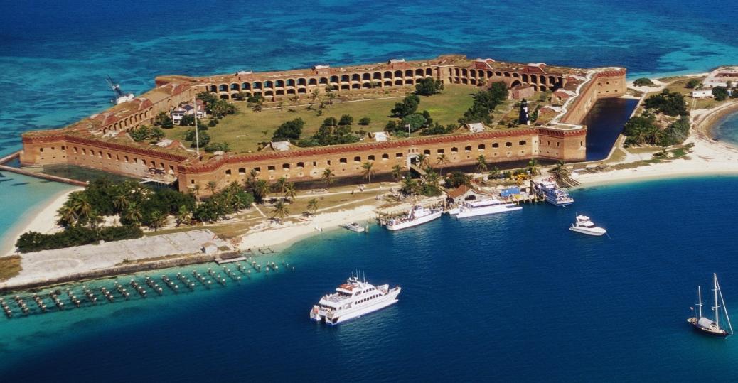 fort jefferson, coastal fortress, masonry structure, florida