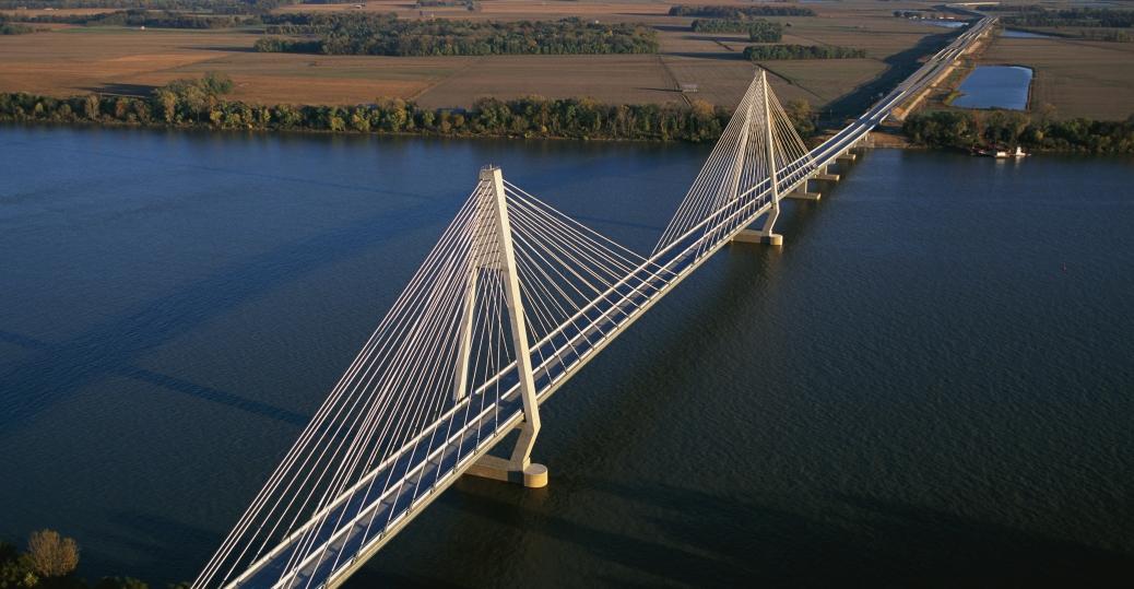 william h natcher, bridge, cable-stayed bridge, u.s. highway 231, ohio river, owensboro, rockport, indiana