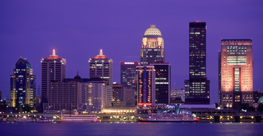 skyline, louisville, ohio river, kentucky, skyline