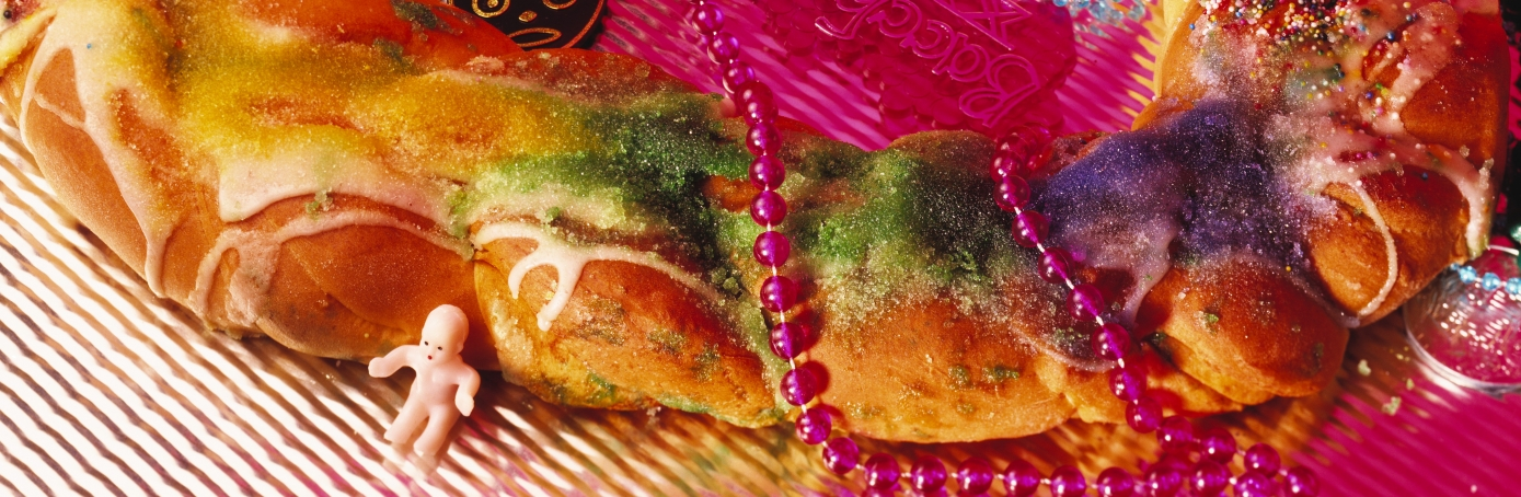 New Orleans Mardi Gras King Cake With Baby Doll