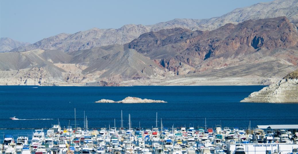 lake mead, marina, mountains, boulder city, nevada
