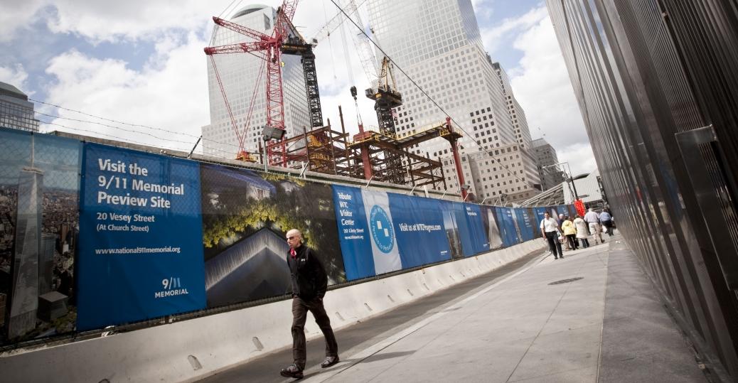 ground zero, twin towers, vesey street, 9-11, terrorist attacks, new york, construction