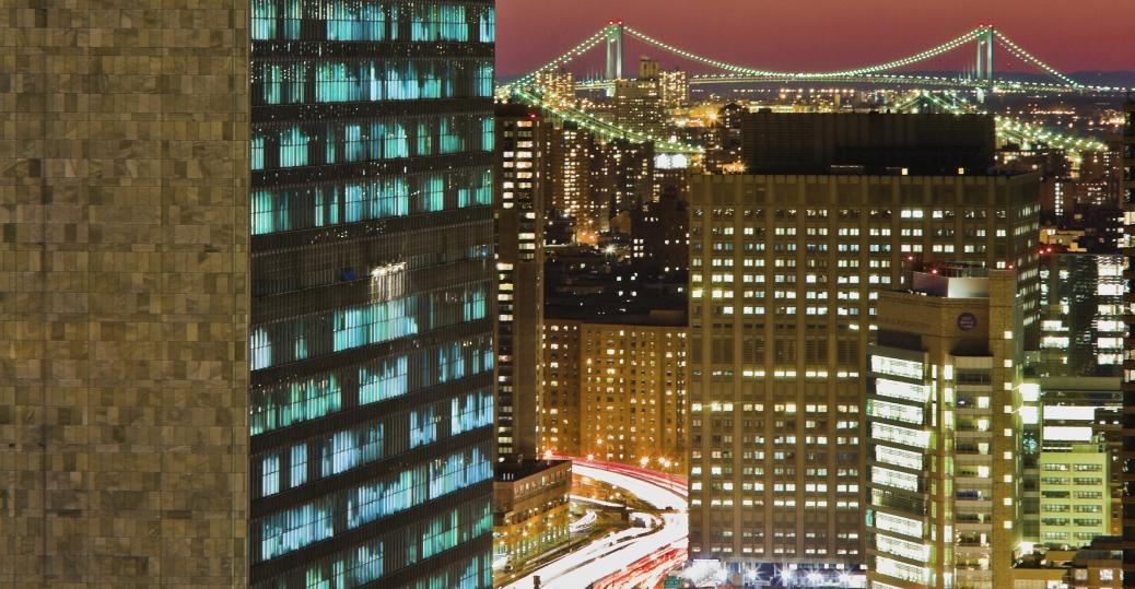 the united nations, secretariat building, new york, new york city, the un, united nations
