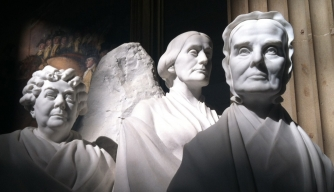 Statue of Elizabeth Cady Stanton (L), Susan B. Anthony (C), and Lucretia Mott (R)