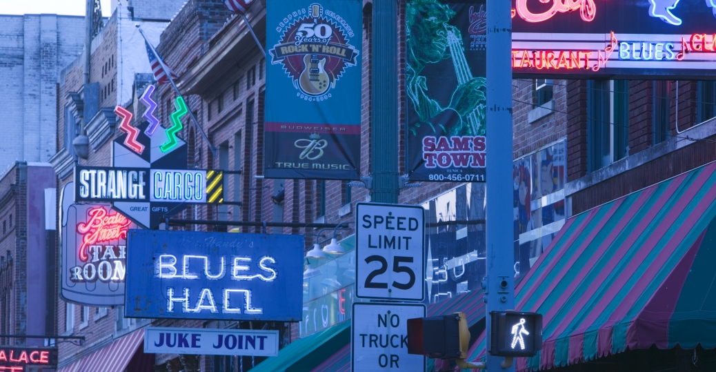 beale street, clubs, live music, memphis, tennessee