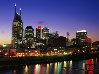 cumberland river, nashville, tennessee, state capital, second largest city, city, skyline