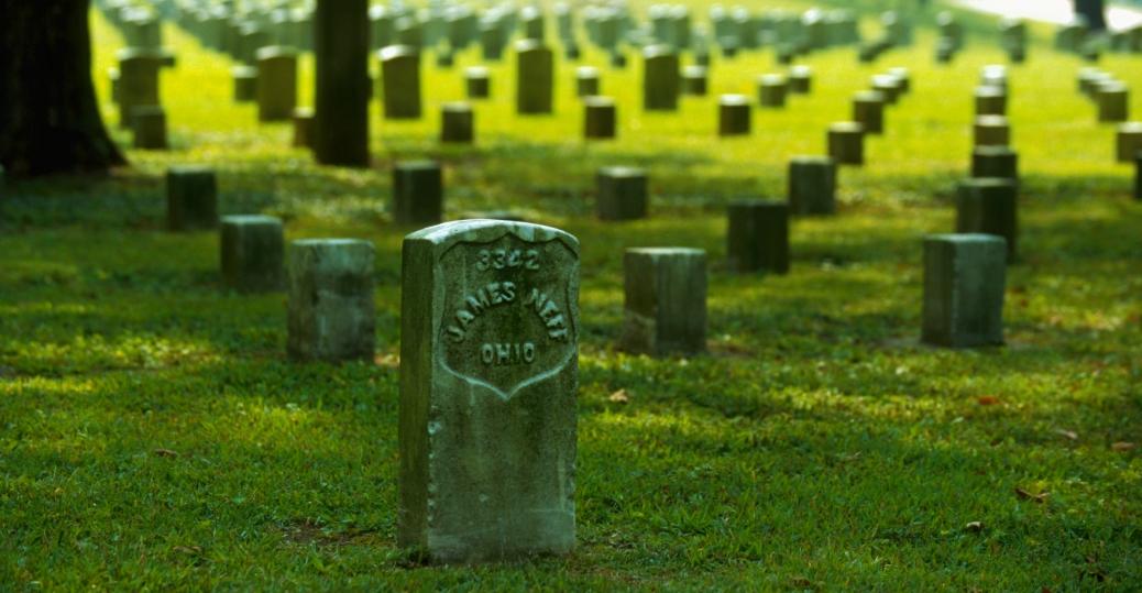 shiloh, military, national park, grave stones, civil war, battle of shiloh, tennessee