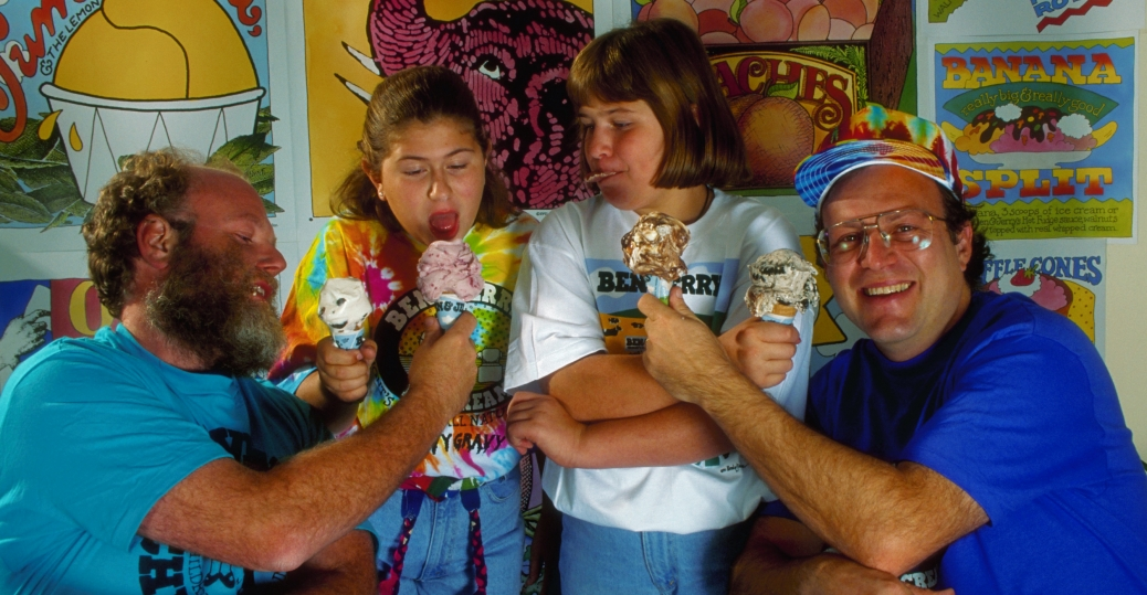 ben cohen, jerry greenfield, montpelier, vermont, state capital, ice cream, ben and jerry's