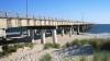 chesapeake bay bridge, maryland, virginia, bridge, beach, water, chesapeake bay