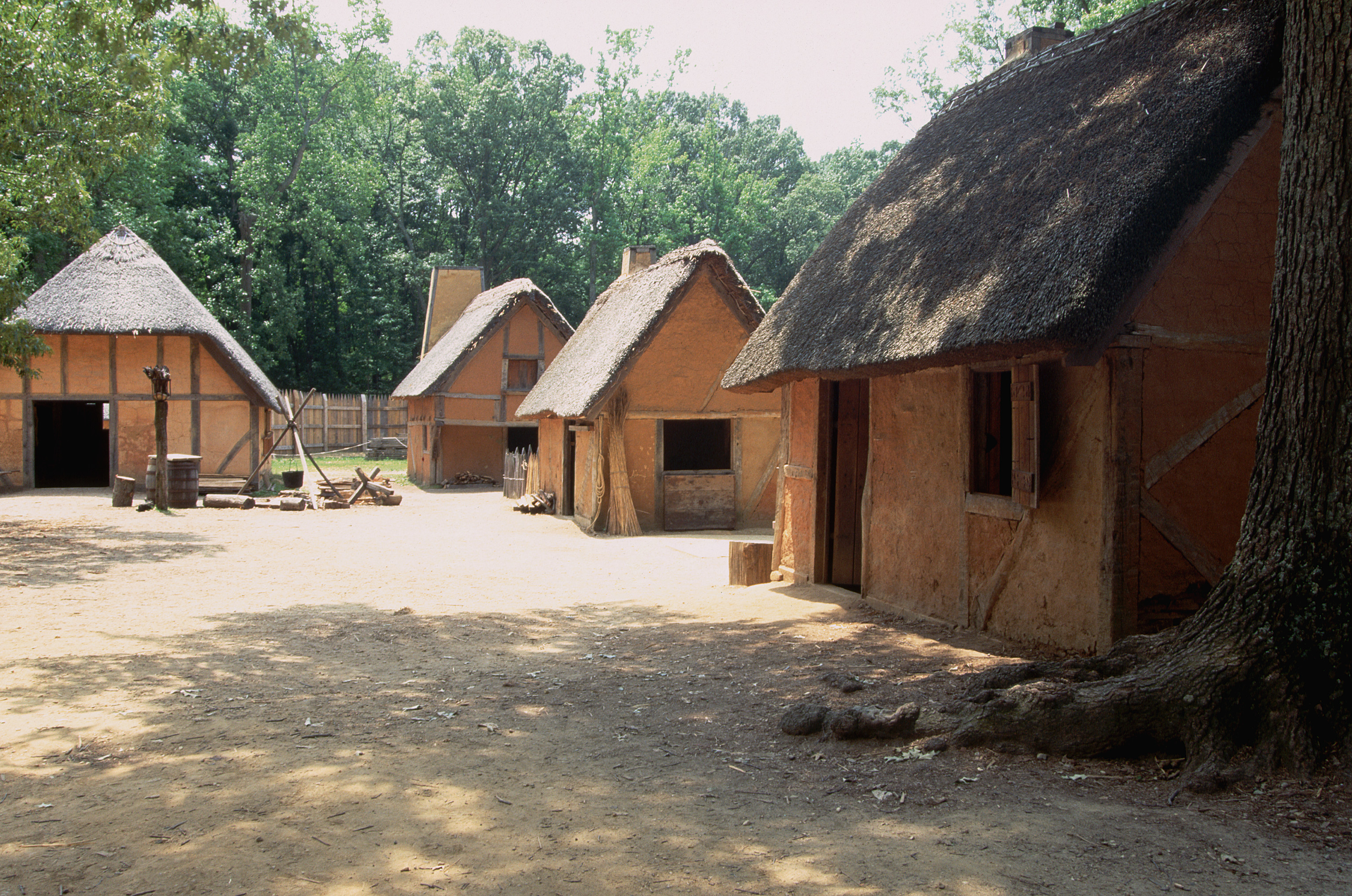 Replica Of James Fort Settlement Virginia Pictures