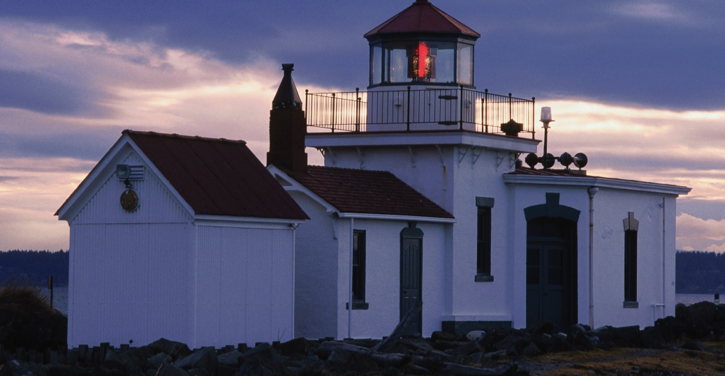 west point lighthouse, discovery park, seattle, washington