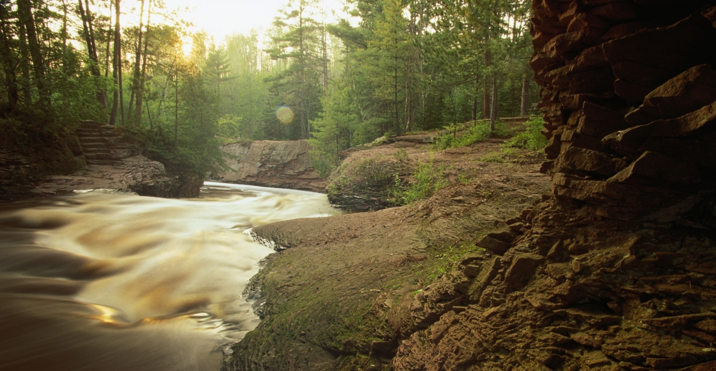 amnicon river, where the fish spawn, ojibway indians, great lake superior, wisconsin