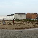 Children on Tamaulipas beach following passage of Hurricane Alex