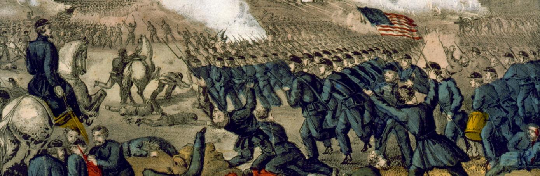 Painting of Battle of Fredericksburg