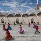 Raramuris indigenous women play basketball