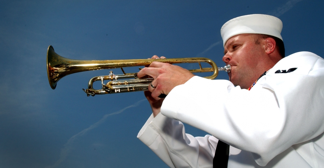 taps, horn, memorial day