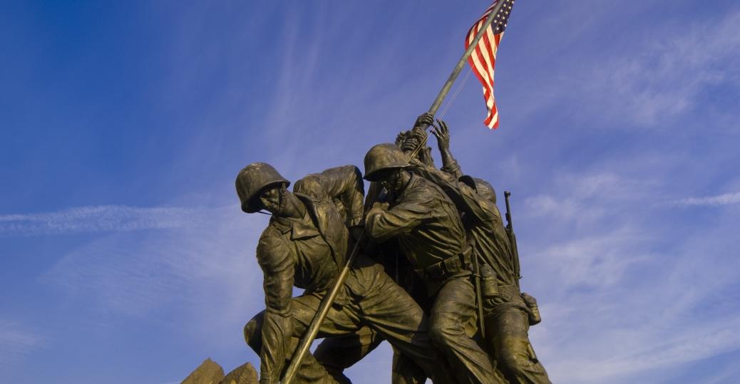 arlington, virginia, iwo jima war memorial, american marines, mount suribachi, battle of iwo jima